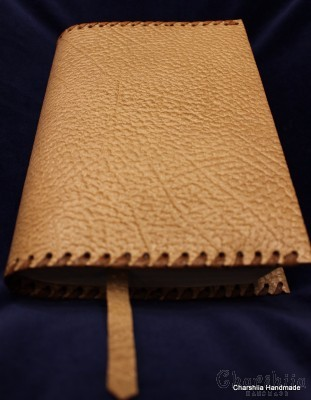 Book cover, handmade, genuine leather