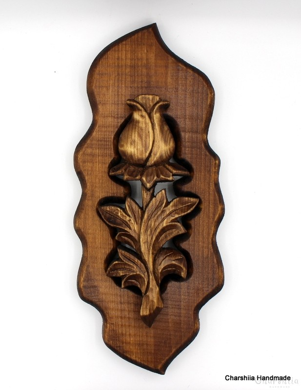 "Woodcarving ""Rose"" 1"