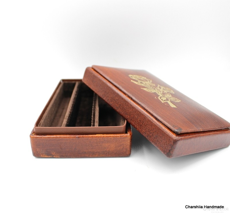Cigar box, handmade, genuine leather