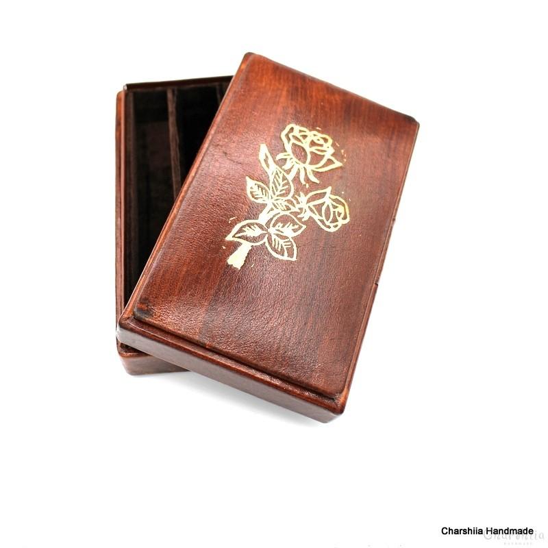 Cigar box, handmade, genuine leather