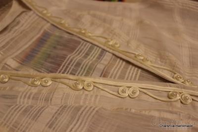 Lady's silk west with silk stitching