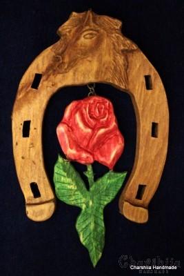 Horseshoe of woodcarving ''Rose''