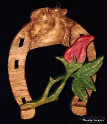 Horseshoe of woodcarving ''Rose''