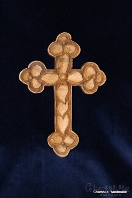 "Woodcarving ""Christian cross"" 1"