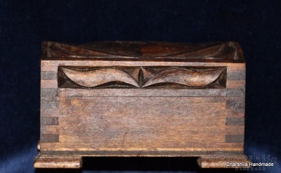 Jewelry box of woodcarving ''Heart''