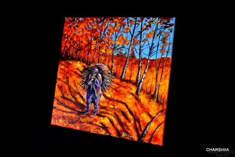 Painting ''Autumn in the Mountains''