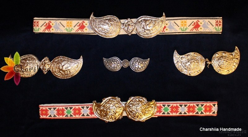 Embroidered lady's belt as part of national clothing