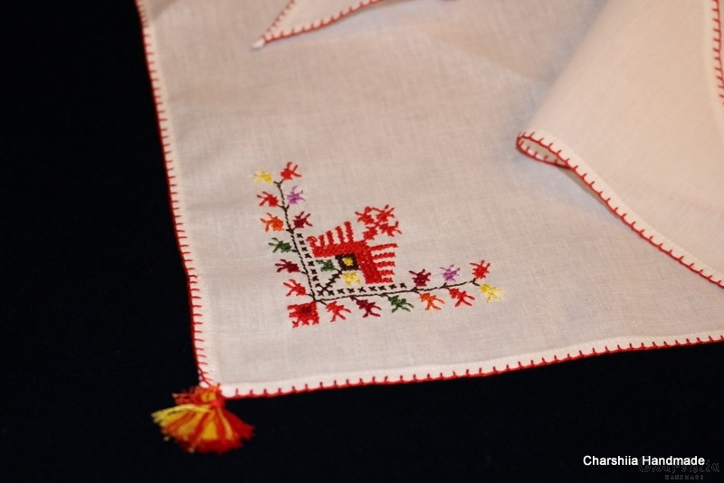 Head scarf with Bulgarian embroidery