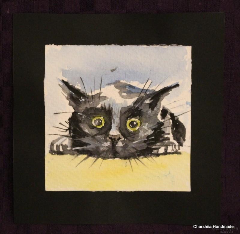Painting ''Aquarelle - Cat'' 1