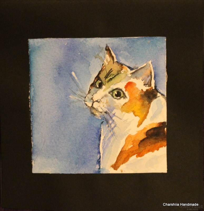 Painting ''Aquarelle - Cat'' 3