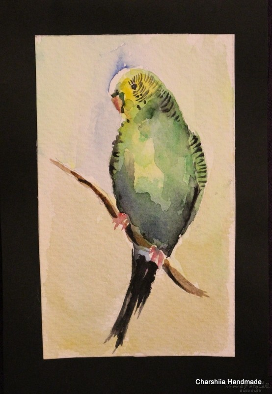 Painting ''Aquarelle - Parrot'' 1