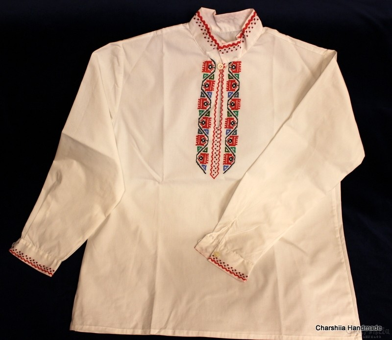 Junior shirt with Bulgarian embroidery