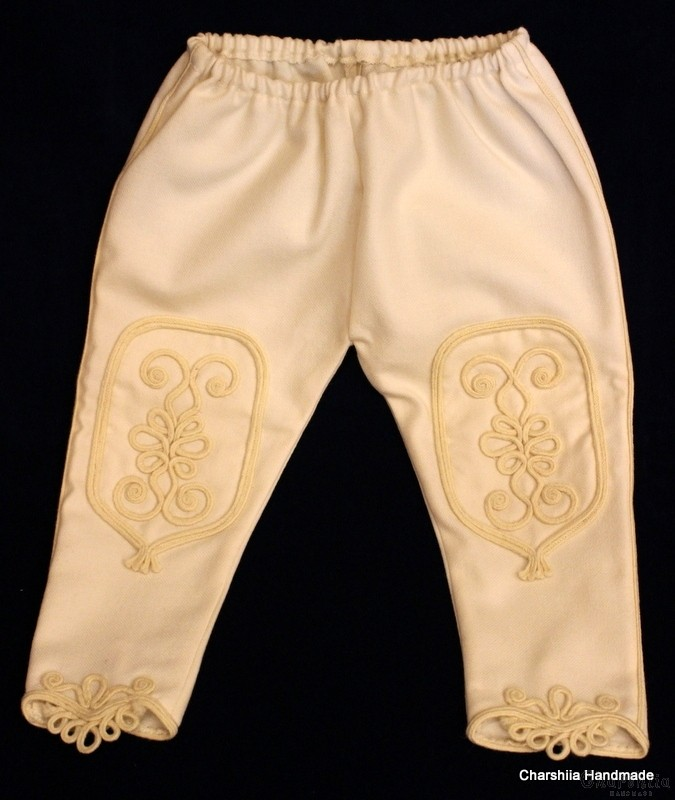 Traditional children's trousers for Bulgarian folk costume