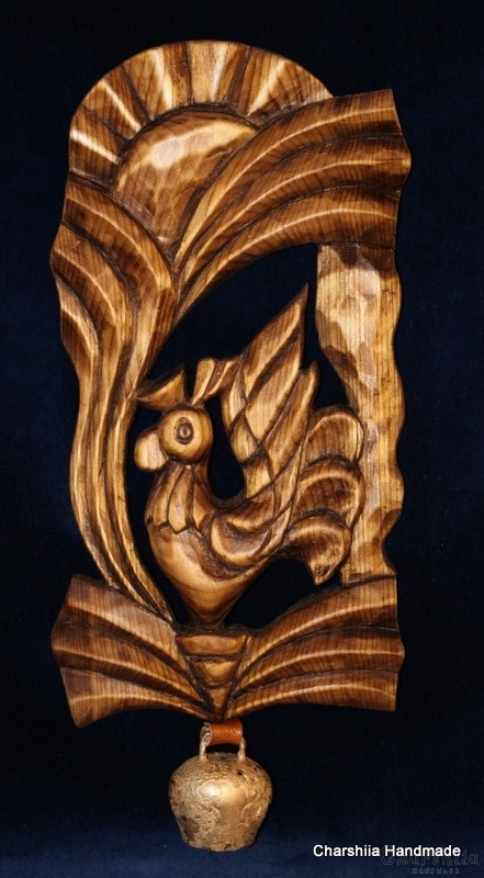 "Woodcarving ""Rooster"""