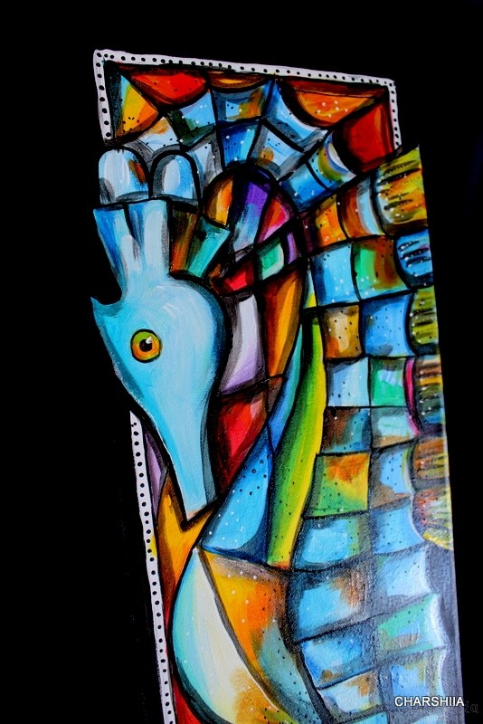 Painting ''Sea Horse in Color Dance''