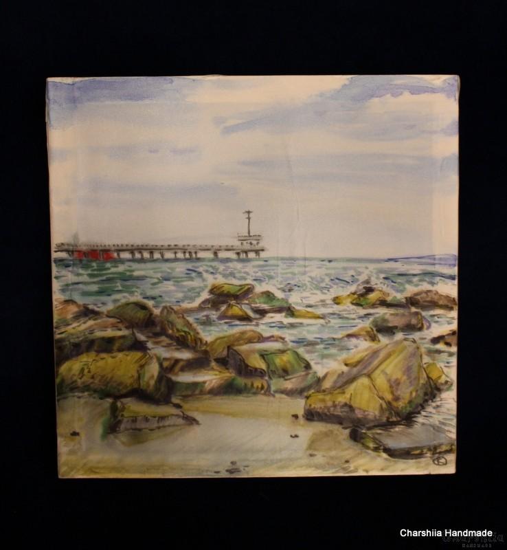 "Batik Silk Painting ''Sea 3"""