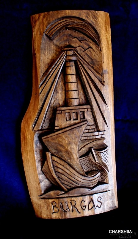 "Woodcarving ""Seaside town"" 3"