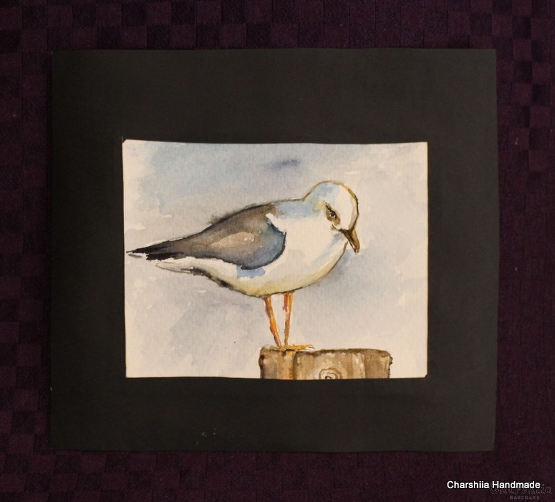 Painting ''Aquarelle - Seagull''