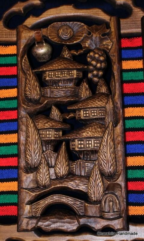 "Woodcarving ""Bulgarian house on rug"""