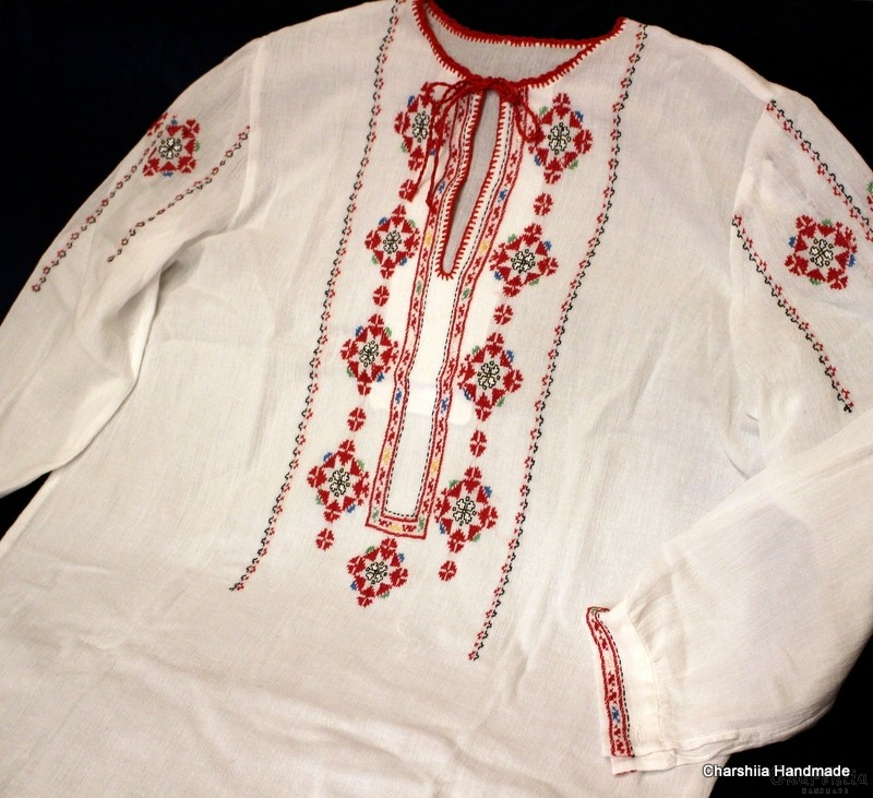 Ladies kenar shirt with Bulgarian embroider