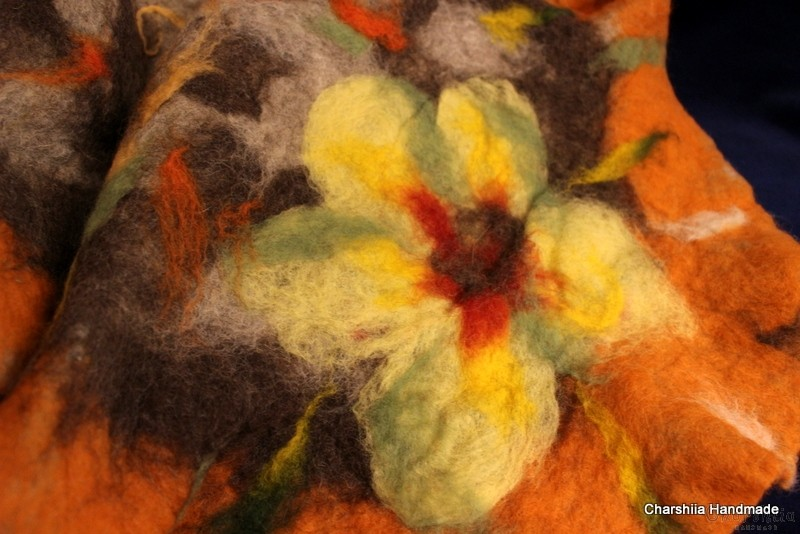 "Felted scarf ''Autumn"""