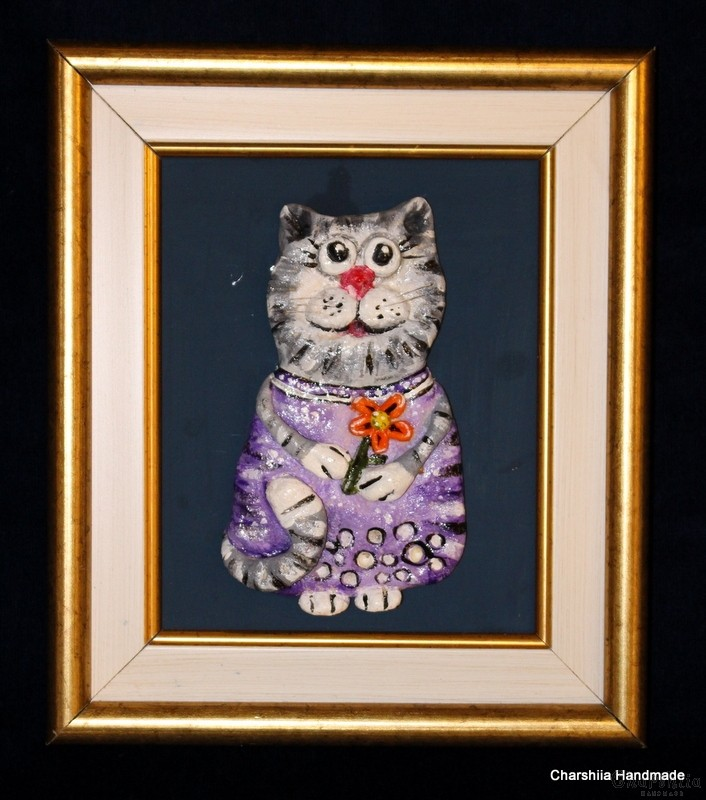 Painting ''Ceramic cat""
