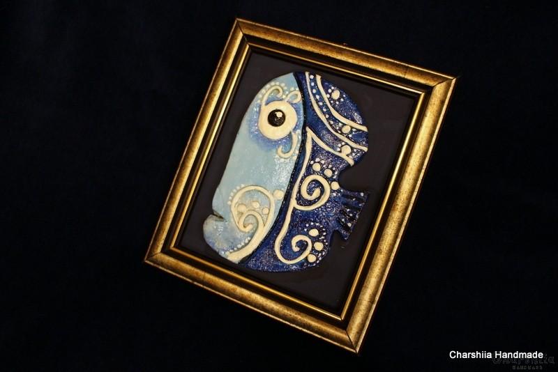 """Painting ''Ceramic fish"""" 4"""