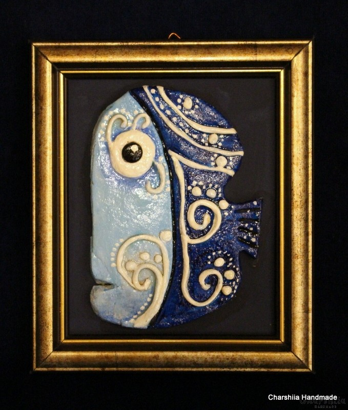 "Painting ''Ceramic fish"" 4"