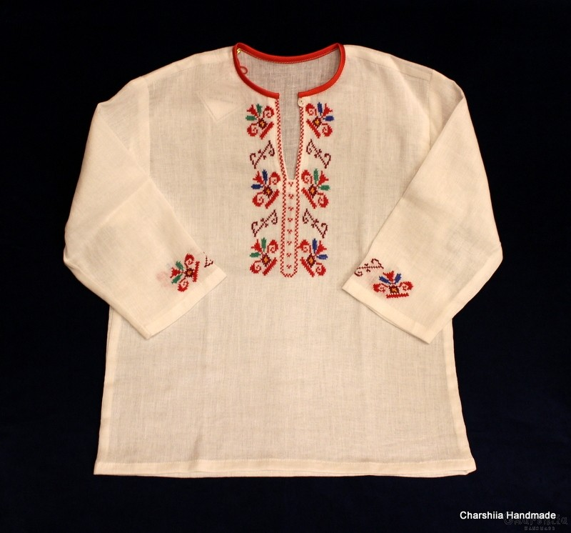 Children's kenar shirt with Bulgarian embroidery