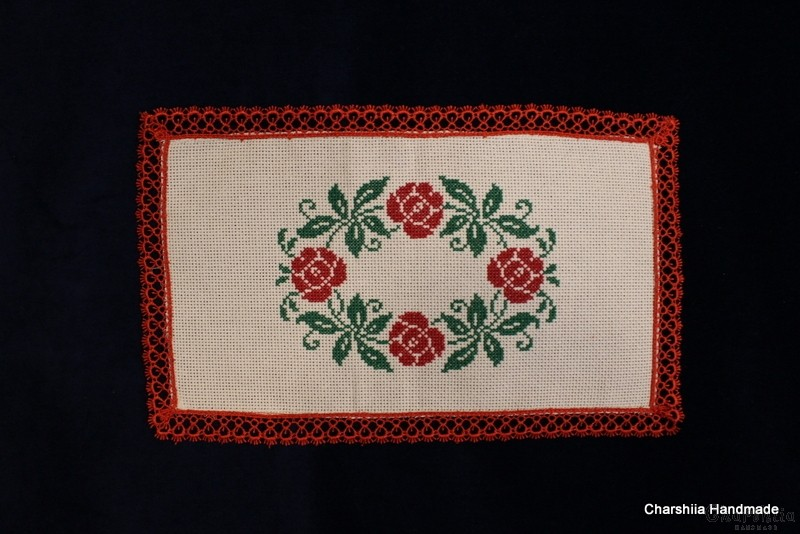 Table cloth with Bulgarian embroidery