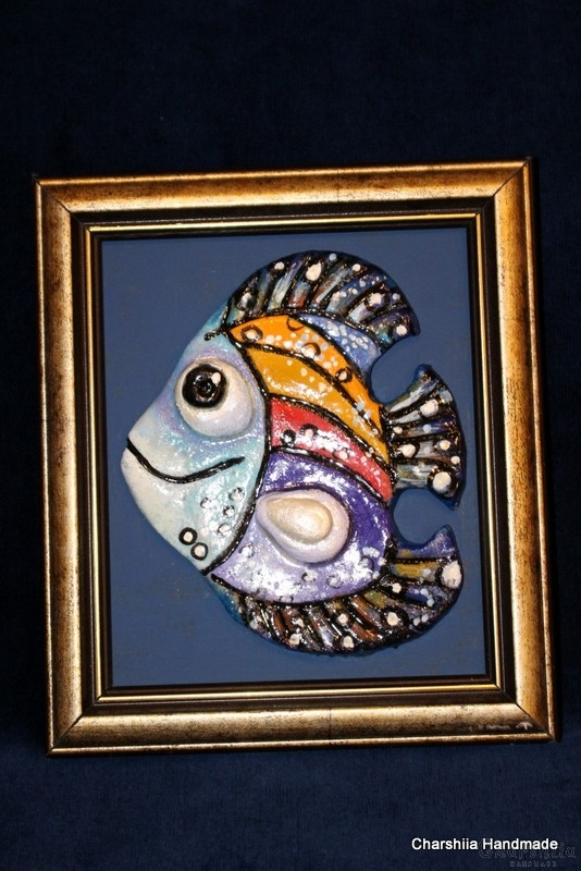 """Painting ''Ceramic fish"""" 9"""