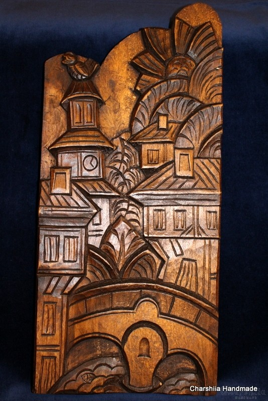"Woodcarving ""Balkan city"""
