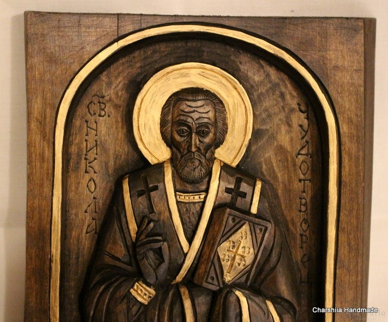 Woodcarving - Icon image St. Nicholas