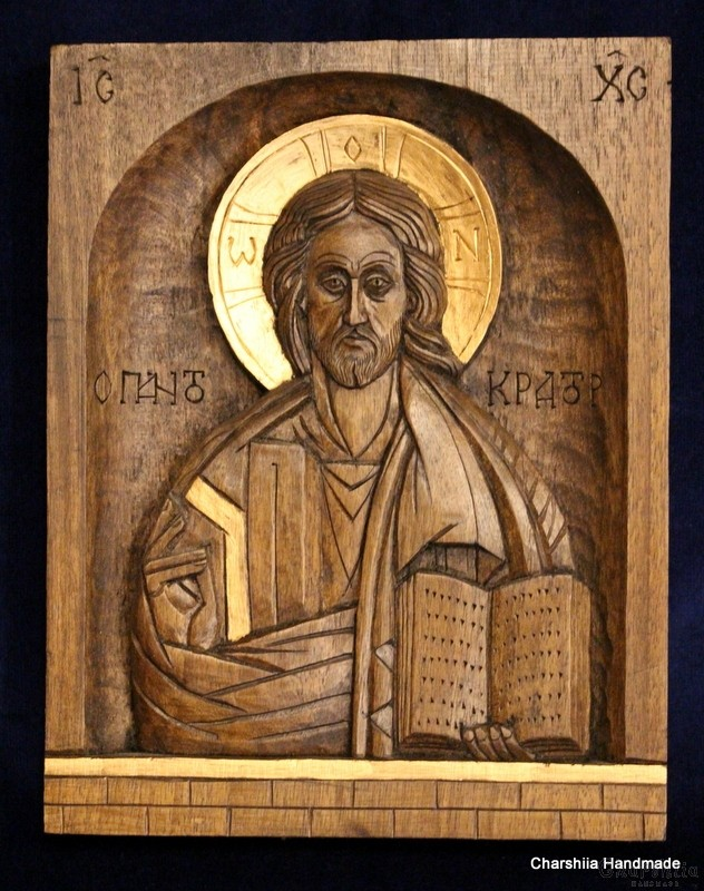 Woodcarving - Icon of Christ Pantocrator