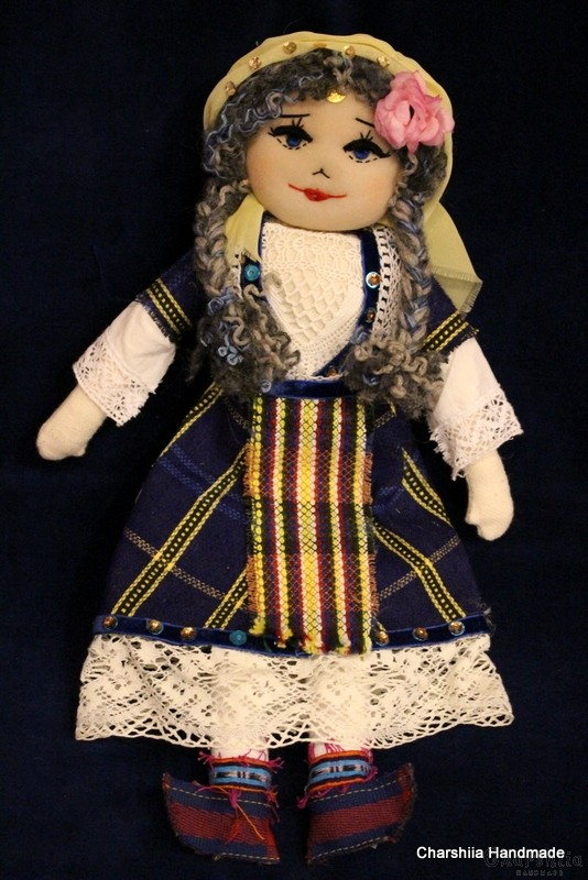 Traditional Bulgarian large rag doll