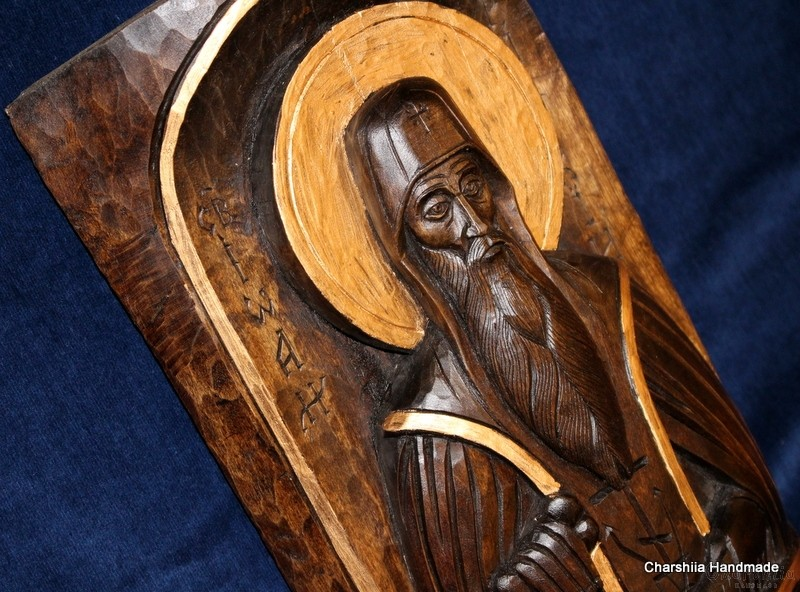 Woodcarving - Icon of St. John of Rila