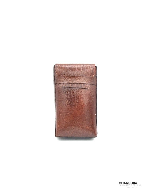 Cigarette case, Handmade, Genuine leather