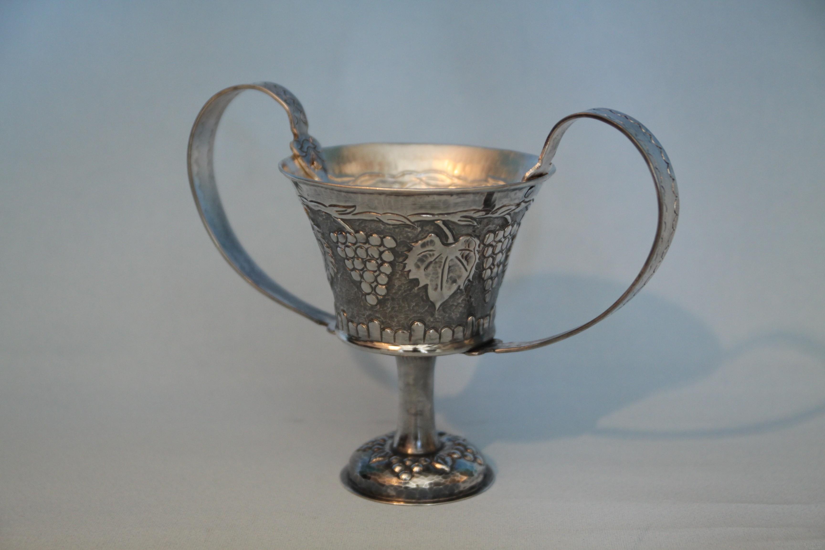Thracian Kantaros, silver coated