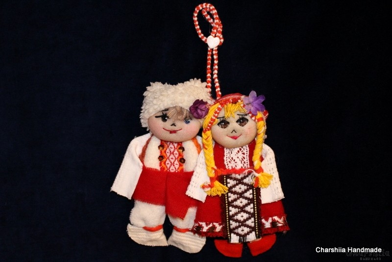 Traditional Bulgarian little doll couple - Pijo and Penda