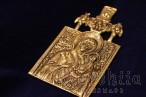 "Brass icon ""Virgin Mary"""