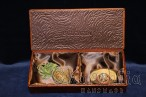 Jewelry Box genuine leather ''double''