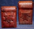 Cigarette case, Handmade, Genuine leather