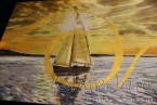 Batik Silk Painting ''Sea 4""