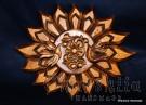 """Woodcarving """"Sun, birds, flower"""""""