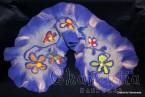 "Felted scarf ''Blue flower"""