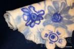 "Felted scarf ''White flower"""
