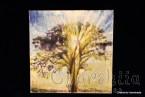 "Batik Silk Painting ''Energy wood 1"""