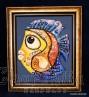 """Painting ''Ceramic fish"""" 8"""