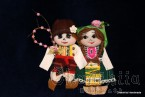 Traditional Bulgarian little doll couple - Survakari