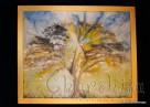 "Batik Silk Painting ''Energy wood 7"""